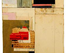 """number 30 2004 Acrylic, found paper collage on museum board 8 x 6"""""""