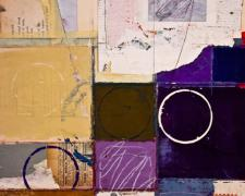 "a table turned II, 2012, mixed media collage, f.s. 21 x 17"" / i.s 16 x 12"""