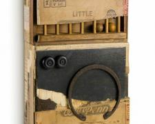 little playmate, 2014, assemblage, 15 x 7 3/4 x 3 1/4""