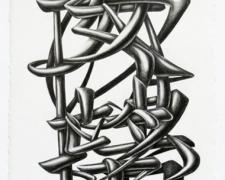 Disappointment and Relief, 2011, graphite on paper, 14 1/2 x 7 1/2""