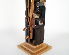 THE HOME OF GREATER VALUES, 2016, assemblage, 26 1/4 x 9 1/4 x 9 1/4""