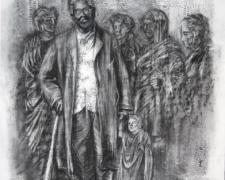"Elder Key 2008 charcoal 30 x 22"""
