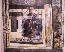 "Jean Voste (Dachau) 2015 acrylic,silkscreen 40 x 41"""