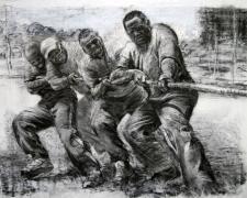 """TZ Tug 2008 charcoal 30 x 44"""""""