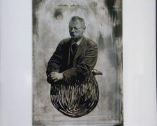"#2 Jin Jerri 2004 Transfer, acrylic on paper 13 1/4 x 8 3/4"""