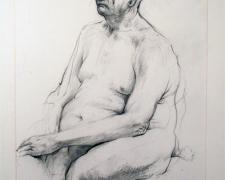 """Henry as a bundle thinking, 2007, graphite on paper, i.s. 10 1/4 x 7 1/8"""""""