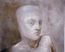 "Analytical Drift 2006 Acrylic, oil on panel 14 x 11 15/16 x 4"""