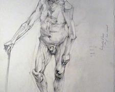 "Reintegration of Henry, 2010, graphite on paper, 15 1/8 x 11 1/4"""
