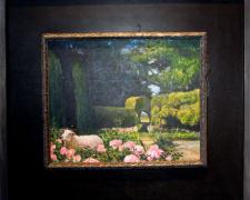 "The Hireling Shepherd, 2010, acrylic on panel, f.s. 17 3/4 x 20"" / i.s. 9 1/2 x 11 7/8"""
