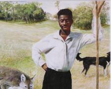 """The Hireling Shepherd, 2014, acrylic on paper, i.s. 18 3/4 x 12 3/4"""""""