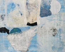 """Iceland Series #10, 2020, mixed media on canvas, 16 x 20"""""""