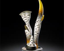 """Voyage, 2010, Hot Sculpted/Sand Blasted, etc., 20.5 x 16 x 5.5"""""""