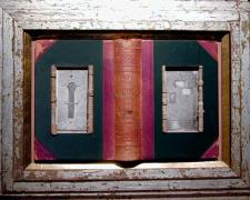 Door to Door, 2005, assemblage, 16 x 21 1/4 x 2""
