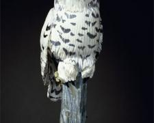 Snowy Owl 2008 Blown/off-hand sculpted glass 26 x 10 x 8""