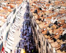 Dubrovnik, 2012, mixed media on panel, 54 x 35
