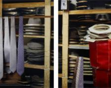 Haberdashery, 2005, C-print and acrylic on panel, 27 x 54""