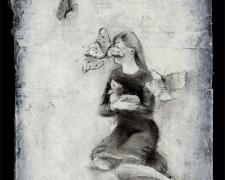 """Doe Study 2006 charcoal, paper 12 x 7"""""""