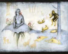 "Lamentations 2006 acrylic, charcoal, paper 30 x 44"""