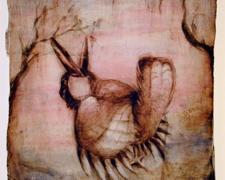 """Prairie Chicken 2006 acrylic, paper 12 x 9"""""""