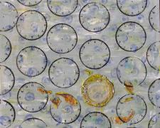 """Stop a Clock 2005 Oil on canvas 10 x 10"""""""