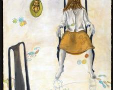 Wild Woman 2009 acrylic on stitched canvas 40 x 30""