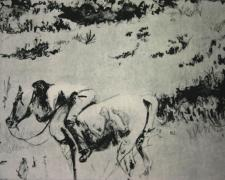 "That Summer in Taos, 2010, etching, ed. A/P, p.s. 11 x 15"" / i.s. 8 3/4 x 9 3/4"""