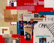 little wonders, 2007, mixed media collage, 14 3/4 x 11 3/4""