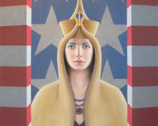 American Nefertiti, 2008, oil on canvas, 36 x 24""