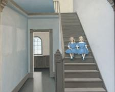 The Old Stairwell, 2007, oil on canvas, 40 x 30""