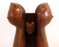 """With All My Heart 2005 Mesquite wood 13 x 8 1/2 x 5 1/2"""""""