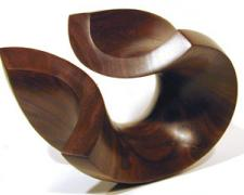The Wave, 2003, walnut , 5 x 7 x 4""