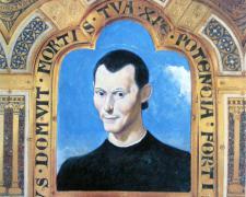 "Saint Machiavelli, 2008, collage, acrylic on paper, 8 1/2 x 8"""
