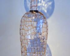 Amber Mosaic Vase, 2006, blown, 38 x 8""