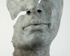 "Fragmento Rostro Asiatico 2005 bronze, ed. 8/8 17 x 7 x 6"""