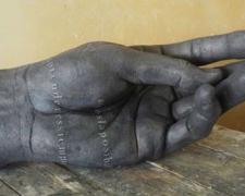 "Mano VIII, 2010, bronze, ed. 1/8, 24 4/5 x 9 2/5 x 8 3/10"""