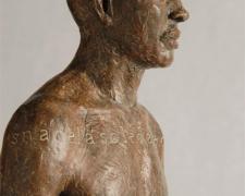 """Personaje V 2007 bronze, ed. 1/8 20.5 x 5.5 x 3"""""""