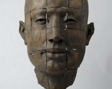 """Rostro Cuadricula, 2008, bronze, ed. 5/8, 20 1/2 x 14 1/5 x 11 4/5"""""""