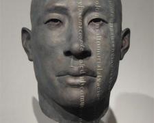 "Rostro Texto Vertical, 2010, bronze, ed. 2/8, 25 1/2 x 15 x 11 1/2"""