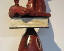 "Bullet/Book/Canigou, 2011, terracotta with oil, 34 x 8 x 9"""