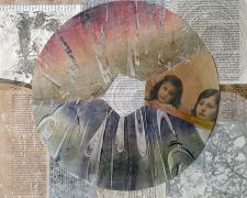 """Hidden Portraits, 2014, mixed media, 16 x 16"""""""