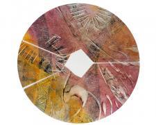 "Sunny Talk, 2014, inks on paper, 16 x 16"""