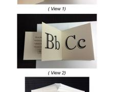 A Book for Boys and Girls, 2013, accordion alphabet book, inkjet print on paper, 4 x 1 x 4""