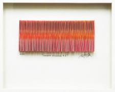 "Chromatic Resonance #5, 2013, paper collage, f.s. 12 x 15 x 1 1/2"" / i.s. 3 x 7 1/2"""