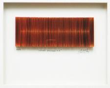 "Chromatic Resonance #6, 2013, paper collage, f.s. 12 x 15 x 1 1/2"" /  i.s. 3 x 7 1/2"""