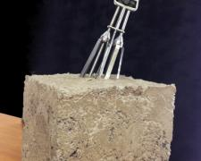 Homemaker, 2013, vintage rotary hand mixer, concrete, 17 1/2 x 7 x 7 1/2""
