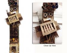 """Totem, 2013, cardboard, wood, 108 X 28 x 12"""""""