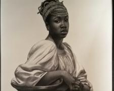 """I hope this message finds you in good strength., 2016, charcoal on paper, 50 x 38"""""""