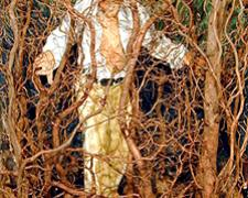 Man in a Thicket 2003 Mixed media 6 5/8 x 4 3/4 x 2 3/4""