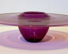 "Amethyst Interior Fold Platter, 2007, blown, 4 x 13"" (diameter)"
