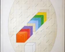Break Series and Oval, 1976, acrylic, graphite on canvas, 48 x 60""